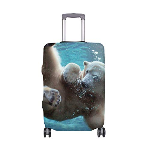 Polar Bear Swim Luggage Covers Suitcase Protector Jacket Dust-proof Anti-thief Dust-proof Case Fits 18-32 Inch Luggage by banks jacqueline shop
