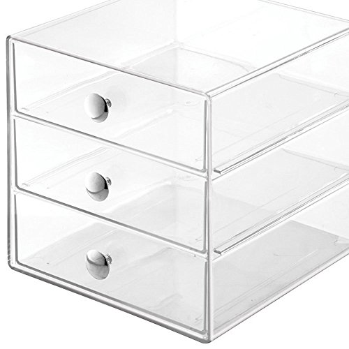 Eight Box Drawers (KAO Mart 3 Drawer Acrylic Clear Organizer Box 8x8x8 inch for Cosmetics, Jewelry, Makeup, Beauty Products and Office Supplies, Clear (Set of 1))