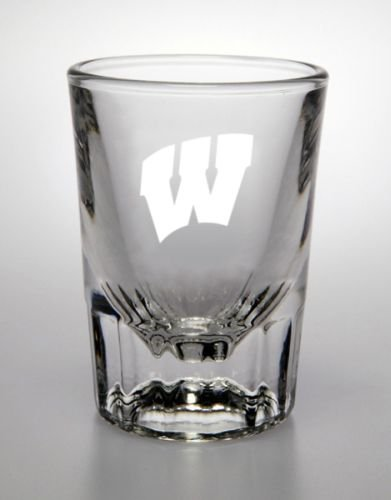 (NCAA - Wisconsin Badgers 2 oz Deep Etched Classic Shot Glass)
