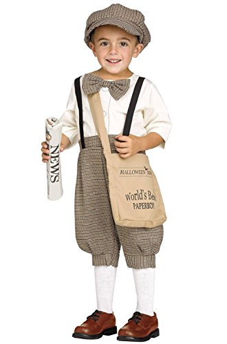 Toddler Milk Maid Costume (1920's Retro Newspaper Boy Toddler Costume)
