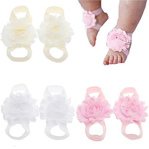 Lebo Baby Barefoot Sandals Baby Shoes Baby Girl Summer Shoes Newborn Sandals
