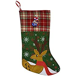 BEKAI Under-Tale-Sans Pa-Pyrus Large Christmas Stocking,3D Printed Festival Party Home Decorative Socks Gift Bags Santa/Deer