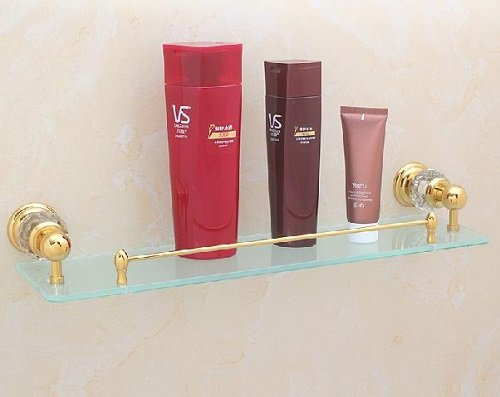MT Bathroom Glass Shelf in gold #MT22A by MT