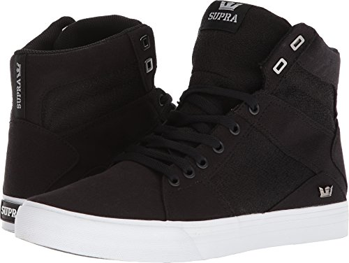 Supra Men's Aluminum Shoes,Size 10.5,Black-White (Skateboarding Supra)