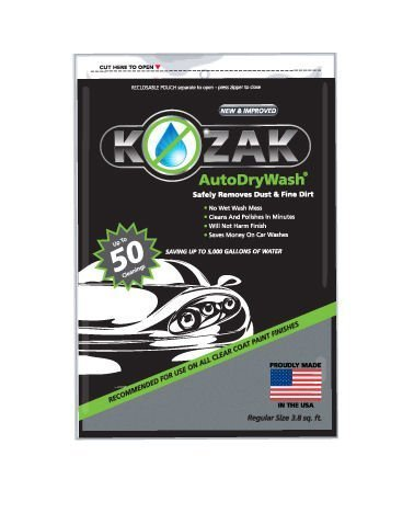 (Kozak Auto Dry Wash Waterless Car Wash Duster Cloth (1050B) )