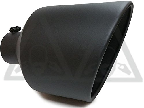 High Temperature Black Coated Diesel Truck Bolt On Exhaust Tip (5