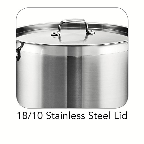 Tramontina 80120/003DS Tramontina Gourmet Stainless Steel Covered Stock Pot, 24-Quart by Tramontina (Image #3)