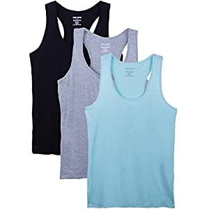 Caramel Cantina 3 Pack Racerback Plus Size Cotton Blend Tank Tops