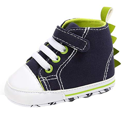 Baby Boys Girls Canvas Sneakers Soft Sole High-Top Infant First Walkers Crib Shoes Moccasins