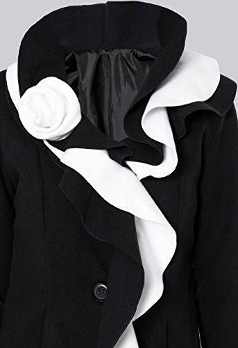 Para Abrigo Colores Caspar Mtl003 Mujer Hecho De Invierno Italia Negro Blanco Varios En Largo TITdqB