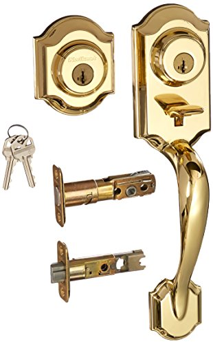 Kwikset 553MNH LIP 3 SMT RCAL 95530-020 Montara Single Cylinder Exterior Only Handleset Featuring SmartKey in Polished Brass