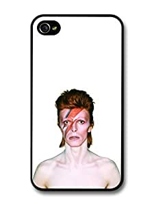 AMAF ? Accessories David Bowie Eyes Closed Lighting Portrait case for iPhone 4 4S by runtopwell