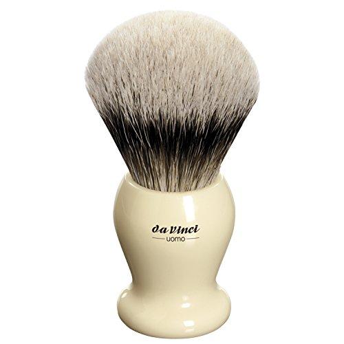 (da Vinci Shaving Series 291 UOMO Silvertip Shaving Brush, Badger Hair with Ivory Handle, 25mm, 70 Gram)
