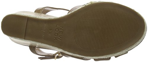 col Donna Look New Aperta Punta Tan Scarpe Power Tan Tacco Beige CtF0tqw