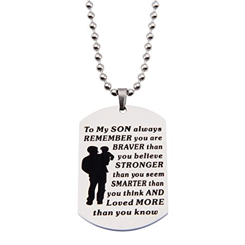Best Gifts For Son To My Son Dog Tag Necklace Personalized - Import It All