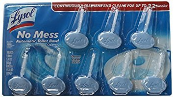 Lysol No Mess Automatic Toilet Bowl Cleaner, Ocean Fresh Scent, 8 Count (Pack of 3) by Lysol