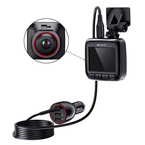 "BC Master Dash Cam, 1080P Car Dashboard Camera Recorder with 170° Wide Angle, 3-Port Smart IC Car Charger, GPS Module, Parking Guard, G-Sensor, Loop Recording, Night Vision, 2.0"" LCD"