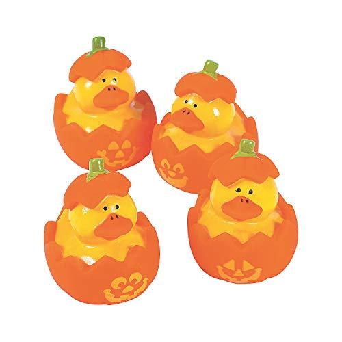 Fun Express - Jol Rubber Ducks for Halloween - Toys - Character Toys - Rubber Duckies - Halloween - 12 Pieces