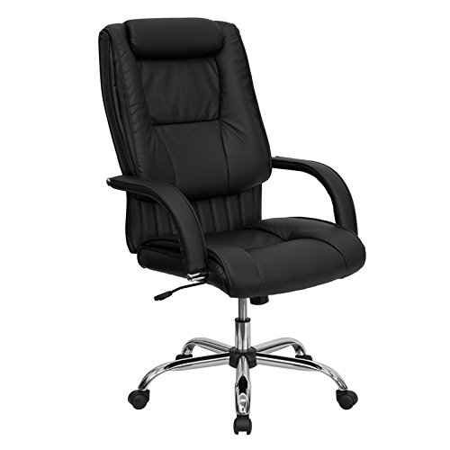 High Back Black Leather Executive Office Chair [BT-9130-BK-GG] electronic consumers