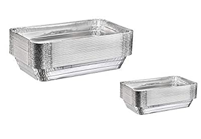 """Disposable Aluminum Steam Table Pans - Full Size Deep and Half Size Deep Combo Pack - Full Size Deep (21"""" x 13"""" x 3"""") Half Size Deep (9"""" x 13"""") - Chafing and Catering Pans"""