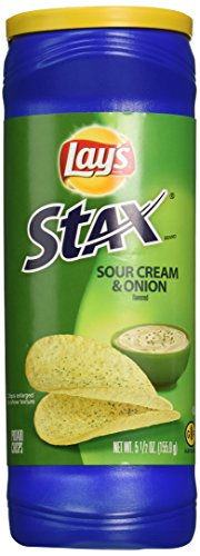 (Lay's Stax Sour Cream & Onion Flavored Crisp 5.5 Oz (Pack of 3))