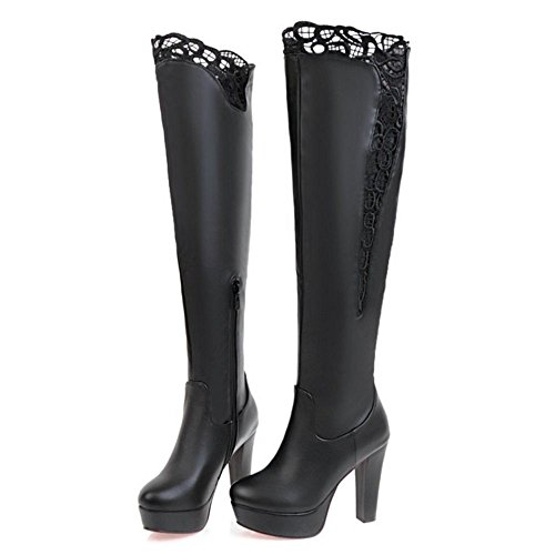 Flatform COOLCEPT Black Warm Women Boots 0RqTzw