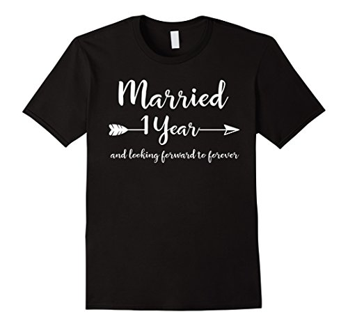 Mens First Wedding Anniversary Gifts for Him Her Couples T-Shirt 2XL Black