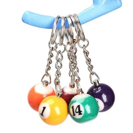 Amazon.com: Llavero, diseño de bola de billar billar piscina ...