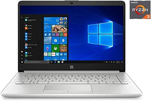 "HP 14-fq0032ms Laptop for Business and Student, 14"" LED Touchscreen, AMD Ryzen 3 3250U Processor(as much as 3.5 GHz), 8GB RAM, 128GB SSD, Webcam, WiFi, Ethernet, HDMI, USB-A&C, Win10"
