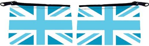 Rikki Knight Pale Blue British Flag Design Scuba Foam Coin Purse