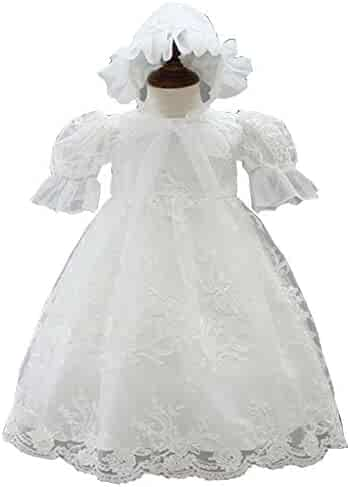552fe6596 Michealboy Baby Girls Christening Dress White 2PC Baptism Gowns Princess  Bowknot Christening Party Dress