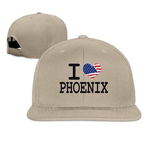 I Love Phoenix Arizona Unisex Adjustable Flat Bill Visor Bas