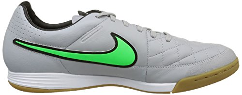 Nike Herren Tiempo Legacy IC Fußballschuhe mehrfarbig (Wolf Grey/Green Strike-Blk-Blk)