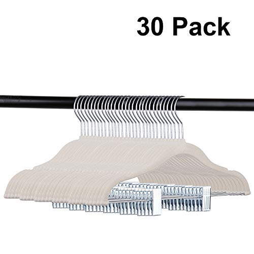 Tosnail 30 Pack Kids Velvet Hangers Children