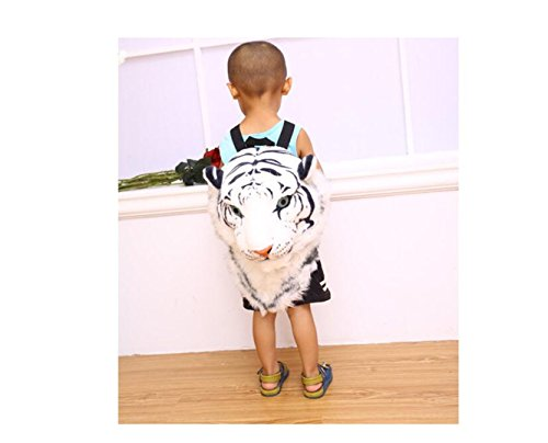 3D Domineering White head shoulder simulation shoulders bag personalised tiger head Bag stuffed backpack Animal rcFqRIr