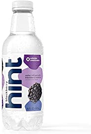 Hint Water Blackberry, (Pack of 12) 16 Ounce Bottles, Pure Water Infused with Blackberry, Zero Sugar, Zero Cal