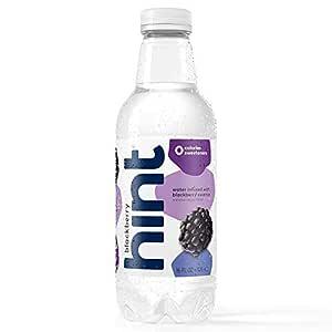 Hint Water Blackberry, (Pack of 12) 16 Ounce Bottles, Pure Water Infused with Blackberry, Zero Sugar, Zero Calories, Zero Sweeteners, Zero Preservatives, Zero Artificial Flavors