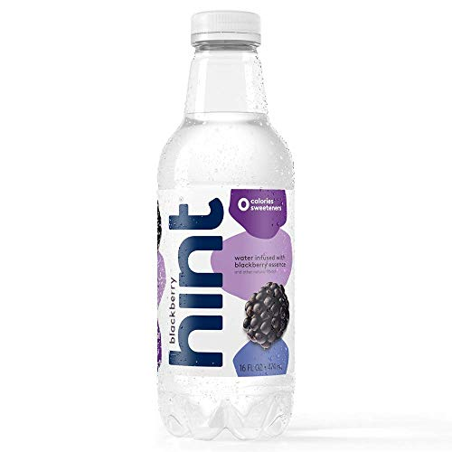 - Hint Water Blackberry, (Pack of 12) 16 Ounce Bottles, Pure Water Infused with Blackberry, Zero Sugar, Zero Calories, Zero Sweeteners, Zero Preservatives, Zero Artificial Flavors