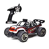 Demaxis 10 Mph RTR Rc Remote Control Electric Cars Trucks, 2.4 Ghz 2wd Rc Dune Desert Buggy, All Terrain Vehicles Truggy (1 16, Red)