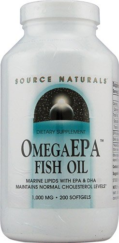 Source Naturals OmegaEPAT Fish Oil -- 1000 mg - 200 Softgels - 3PC by Source Naturals