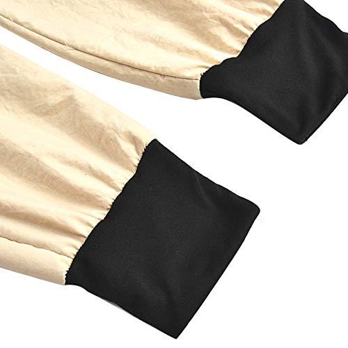 Khaki Hop con Hip coulisse da Csndion coulisse Pantaloni con Pantaloni sportivi sportivi donna con Pantaloni jogging patta Pantaloni TBqwPf