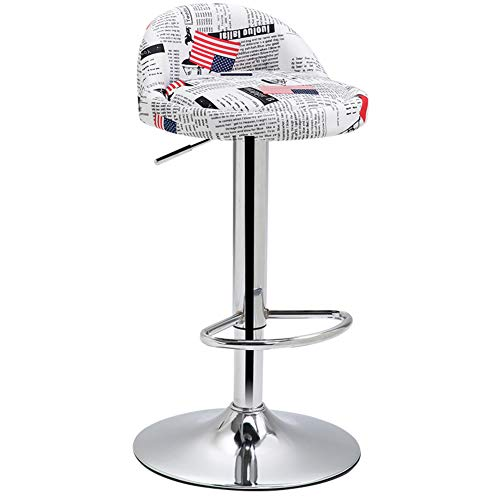 KE & LE Height Adjustable Rolling Swivel Stool, Chair Hydraulic Ergonomics Backrest Wheels for Massage Spa Manicure Dentist Bar Chairs Bar stools-G ()