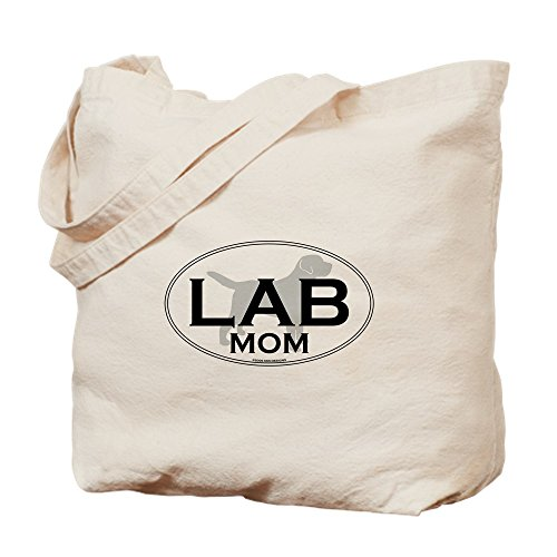 CafePress - Labrador Retriever MOM - Natural Canvas Tote Bag, Cloth Shopping Bag (Bag Pets Silhouette Tote)