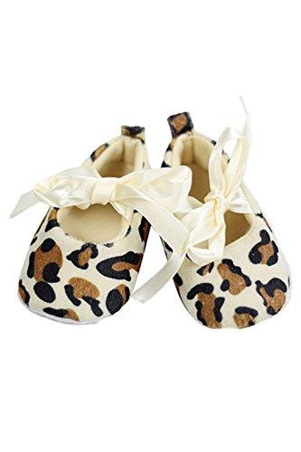 SODIAL(R) Baby Schuhe Leopardfarbe weiche Sohle Walking-Schuhe Turnschuh (6-12 Monate)