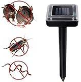 ZMAYASTAR モグラ駆除 ネズミ退治 害虫対策 ソーラー式 超音波害虫駆除器 ソーラー式のモグラ撃退器(2個入り))
