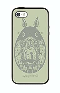 Case Cover Design My Neighbor ToToRo Cartoon MN08 for Iphone 4 4s Border Rubber Silicone Case Black@pattayamart