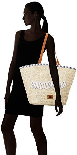 Mujer Shopper 18x41x31 Natural X Para Cm L Beige Mtng rafia w Estate H 46Rxtx