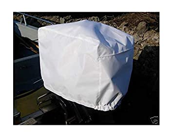 Waterproof Vented Outboard Motor 30-90 HP Boat Engine Protective Cover Grey