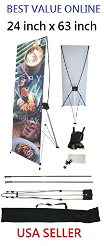 """ColorStore - X Banner Stand 24"""" x 63"""" Bag Trade Show Display Advertising sign Exhibition"""