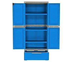 Nilkamal Freedom FMDR 1B Plastic Storage Cabinet with 1 Drawer (Deep Blue & Grey)